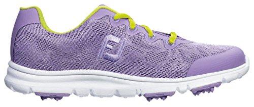 Lavender Girls Shoes - FootJoy Junior Girl's Enjoy Spikeless Golf Shoes, Closeout, Lavender, 5 Medium