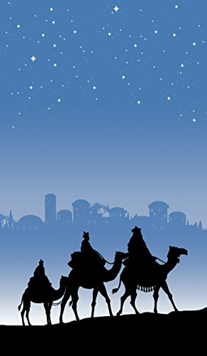 WOWindow Posters Magi Three Wise Men Silhouette Christmas Window Decoration includes one 34.5