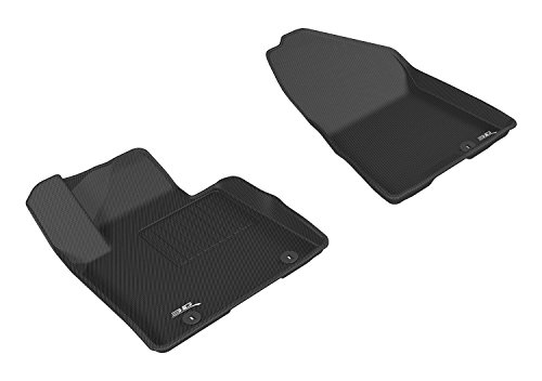 3D MAXpider Front Row Custom Fit All-Weather Floor Mat for Select Kia Sportage Models - Kagu Rubber (Black)