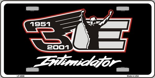 Nascar Intimidator DALE EARNHARDT #3 Novelty Metal License Plate Tag Sign (License Dale Earnhardt Plate)