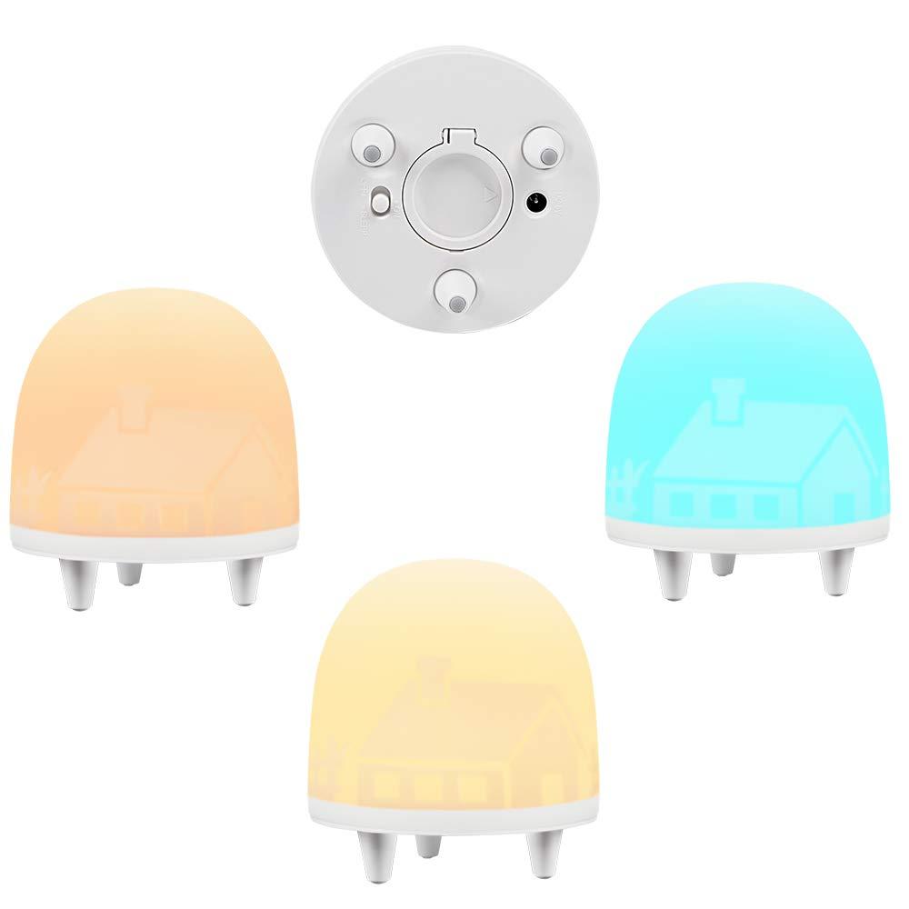 LED Nachtlicht Baby, Kinder Nachtleuchte USB wiederaufladbar, warmweß/Timer/Touch Bedienung/3 Modi, Stimmungslicht mit RGB-Farbwechsel & Dimmbares Schlummerlicht, Schlaflicht für Baby, Kinder