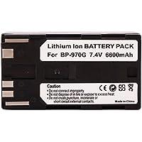 Amsahr Grade A de Celdas de batería (7200mAh, 7.4V) para Canon Gris