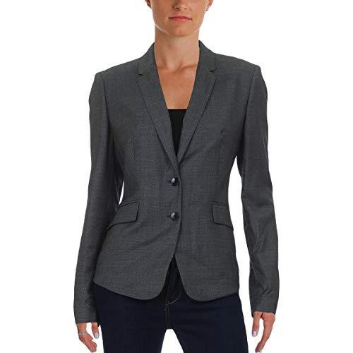 Hugo Boss BOSS Womens Jalinera Wool Long Sleeves Two-Button Blazer Gray ()