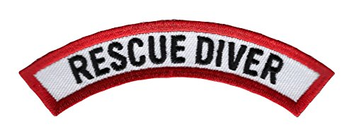 Scuba Patch - Rescue Diver Chevron Patch Embroidered Iron On EMT Scuba Diving Emblem Souvenir