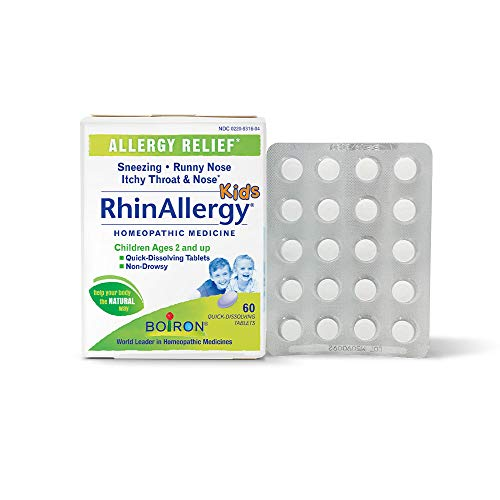 - Boiron Rhinallergy Kids Tablets, 60Count, White