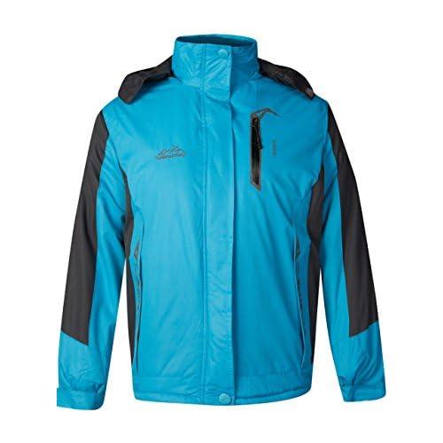 GEEK LIGHTING Women's Waterproof Windproof Coat Full Zip Fleece Jacket Outdoor Sportswear Ski Jacket Sky Blue US Small/Tag 3X-Large