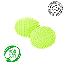 DRYER BALLS by ECO SPIN Green Best Eco-Friendly Alternative for Natural Organic Wool Ball Sheets Fabric Softener Washing Soda - Easy to use Sensitive Skin Baby Clothes Laundry Static Clothes (4)