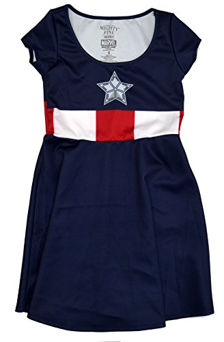 Captain Reynolds Costume (Marvel Captain America I Am Costume Dress (Small, Navy Blue))