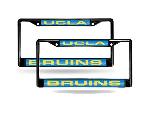Rico UCLA Bruins NCAA Black Metal (2) Laser License Plate Frame Set