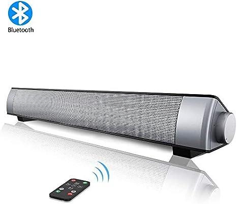 VersionTECH. Barra de Sonido PC Altavoz con Cable e Inalámbrico Bluetooth, Altavoz Estéreo con Control Remoto, SoundBar USB Portátil para Cine en Casa, Ordenador, TV, Móvil, Soporte [RCA, AUX]: Amazon.es: Electrónica