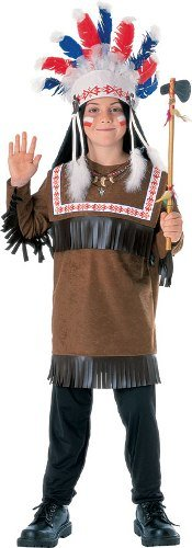 [Children Costume Boys NEW Chief Warrior Indian Outfit S Boys Small (3-4 years)] (Indian Warrior Costumes)