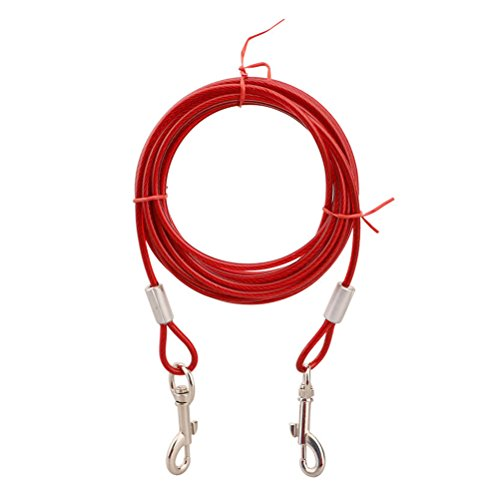 [Uniquorn 2017 New Durable Steel Dog Double-Headed One Drag Two Traction Rope Anti-Seizure Traction Rope Pet] (Costume Design For Film Courses)
