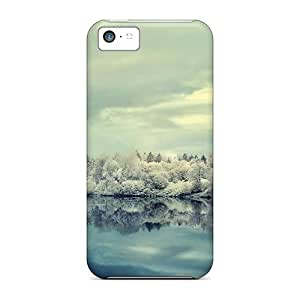 Ideal MDCH Case Cover For Iphone 5c(frosty Winter Morning On The Lake), Protective Stylish Case