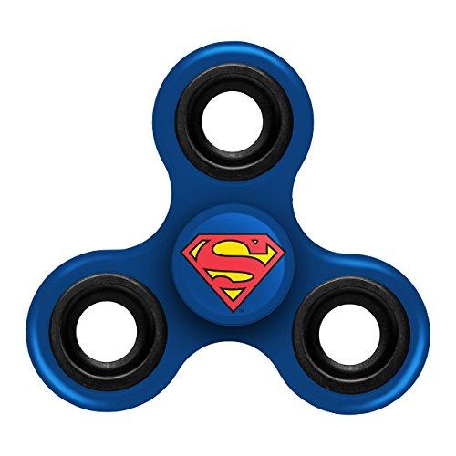 Superman Products : FOCO Superman Diztracto Spinnerz Three Way Fidget Spinner Toy, Blue, 3
