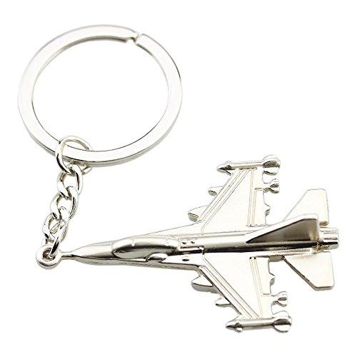 FOY-MALL Unisex Fashion Metal Airplane Keychain Favors J1134
