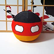 QYBKJDS Polandball Plush Doll Countryball USSR USA France Russia UK CANANDA Italy Country Ball Toy Plush Trave