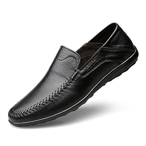 de Zapatos Hombre Aire Trabajo Zapatos Zapatos Vestir de Zapatos al de Zapatos Cuero Libre de Negocios Black de Zapatos los Ort8q5nWOw