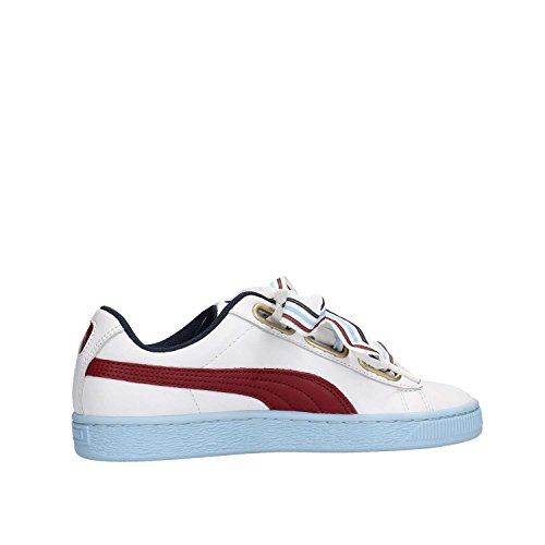 01 Celeste Wn 38 Puma Basket Bianco Bianco School 367734 Heart Vinaccio Sneakers New XXpwv68