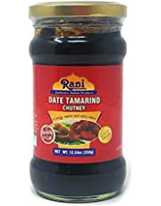 Rani Dates & Tamarind (Imli) Chutney Glass Jar, Ready to eat 10.5oz (300g) Vegan ~ Gluten Free | Non-GMO | No Colors | Indian Origin (10oz - Dates & Tamarind Chutney)