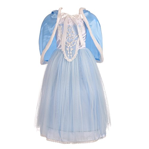 Cinderella Dress Up (Dressy Daisy Girls' Princess Cinderella Dress Up Halloween Party Costumes Dresses Size 4T)