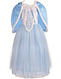 Girls' Princess Cinderella Dress Up Halloween Party Costumes Dresses