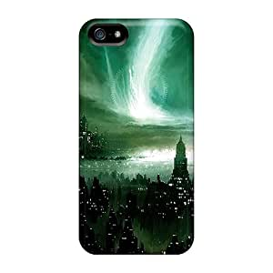 Flexible Tpu Back Case Cover For Iphone 5/5s - Dark Sky