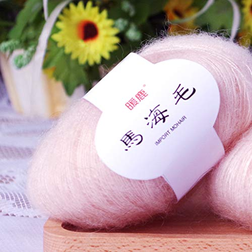 Ruzida Crochet Thread Mohair Cashmere Knitting Wool Colourful Yarn DIY Soft Shawl Scarf Supplies for Patterns Projects Knitting and Applique Crochet Knitting Mini Project