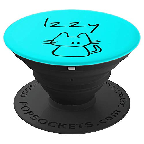 Izzy the cat, funny gift with my cats name on a - PopSockets Grip and Stand for Phones and Tablets