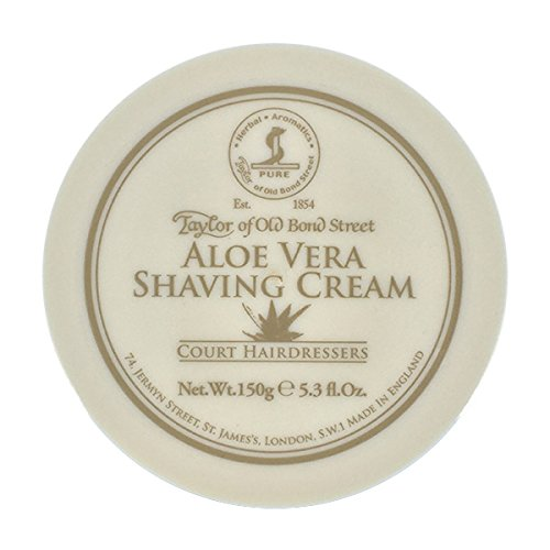 Taylor Of Old Bond Street Shaving Cream Pot 150g -Aloe Vera