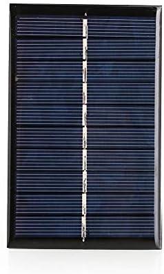 Haihuic 5V 240mA Epoxid-Solarpanel Polykristalline Photovoltaik-Solarzelle für DIY Solar Ladegerät (110 * 69 mm)