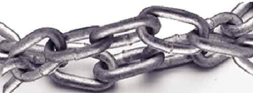 Titan G43 Long Link Hot Dip Galvanized Chain 3/8-Inch X 200-Feet
