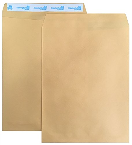 All Purpose Brown Kraft Catalog (50 ShippingMailers 9 x 12 Kraft Catalog Envelopes /w Self Adhesive Flap)