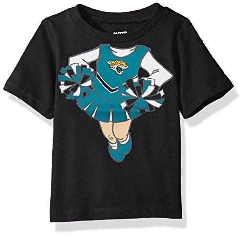 Outerstuff NFL Infant Dream Cheerleader Short Sleeve Tee-Black-24 Months, Jacksonville Jaguars