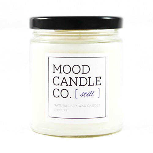 Natural Soy Candle, Still Fragrance, 50 Hours, Scent Notes of Chamomile, English Lavender, Tuberose, Vanilla and White Musk- Great for Aromatherapy, Yoga and Meditation, Non-Toxic, by Mood Candle (Tuberose Scent)