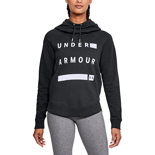 Under Armour Women's Favorite Fleece Pullover Graphic Hoodie, Black/White, XX-Large