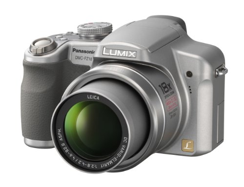 (Panasonic Lumix DMC-FZ18S 8.1MP Digital Camera with 18x Wide Angle MEGA Optical Image Stabilized Zoom (Silver))