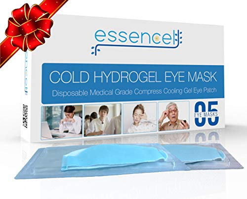 Cooling Gel Eye Mask-Disposable Cold Eye Hydrating Compress Pads for Puffy Eyes and Dry Eye Treatment, Sleep Eye Therapy Patch for Dark Circles, Headaches, Migraine, Allergy, Stress Relief