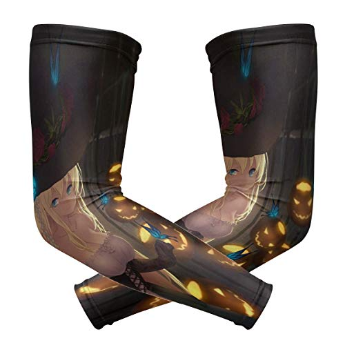 Arm Sleeves Special Anime Halloween Wallpaper Mens Sun UV Protection Sleeves Arm Warmers Cool Long Set Covers