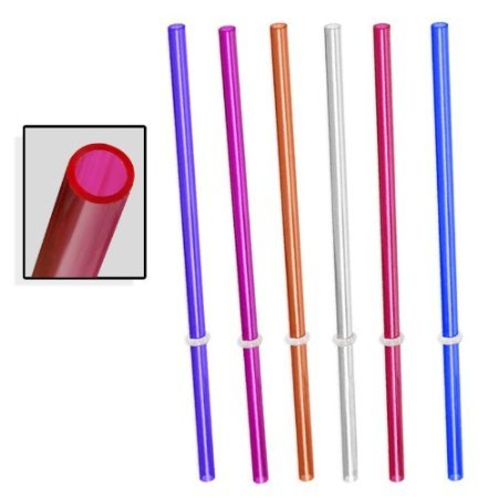 Signature Tumblers 6pc Reusable Thick-Wall Straws - Fits Tervis & Other Tumbler Brands - Made in USA