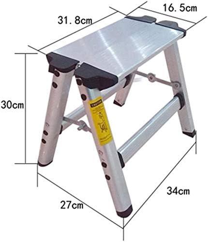 Panier sale Escabeau Marchepieds, ménages Pliable Ladder Aluminium Échelles en Alliage Thicken Pied Tabouret chaises Pliantes