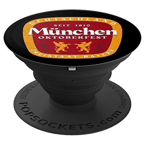 Oktoberfest Deutschland German Beer Festival Retro Vintage  PopSockets Grip and Stand for Phones and Tablets