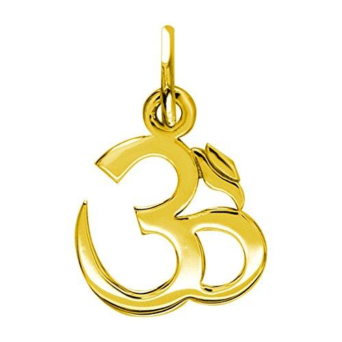 (Small Classic Yoga Ohm, Om, Aum Charm, 11mm x 11mm in 18K yellow gold)