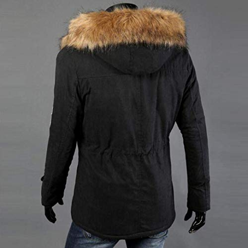 Men Outwear Warm Sizes Coat Down Men Coat Comfortable Hooded Fashion Schwarz Cotton Men's Clothing Coat Men Jacket Winter Derbe Coat Trench 51TxZw1q