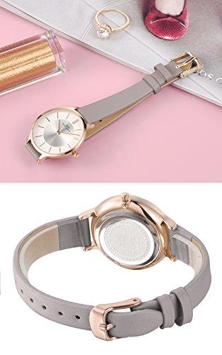 2b8a3dcbd IBSO Women Fashion Simple Watch Ultra-Thin Retro Quartz Analog ...