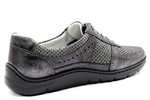 À Lacets Pour Chaussures Ville grau Waldläufer Femme 399004 302 Mittel 007 De CtYSqn
