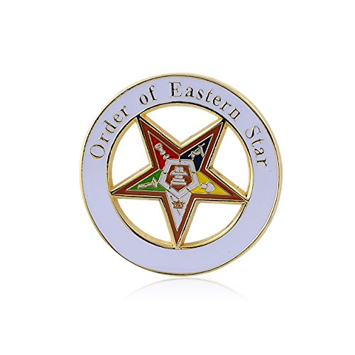 Order of the Eastern Star (OES) Lapel Pin (1.25 inches - Masonic)