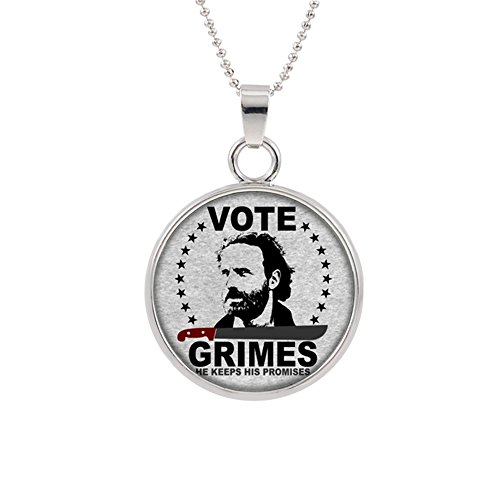 Superheroes Brand The Walking Dead Pendant Necklace Movie Logo Theme AMC Zombie Daryl Rick Carl Maggie Michonne Negan Premium Quality Detailed Cosplay Jewelry Gift Series by Superheroes Brand
