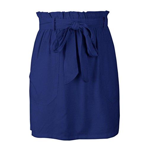 Spbamboo Clearance Sale! Womens Casaul Pocket Pure Color High Waist Summer Skirt by Spbamboo (Image #5)