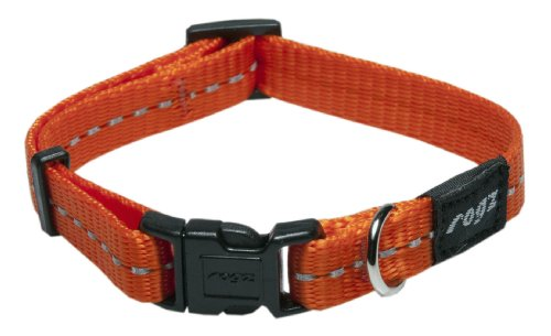 Reflective Dog Collar for Small Dogs, Adjustable from 8-13 inches, Orange - Georgia Bulldog Puppy Collar