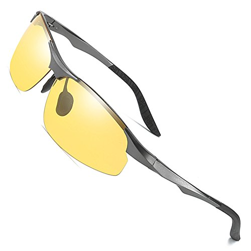 MOTELAN Day Night Photochromic Polarized Sunglasses Men's Sunglasses for Drivers Male Safety Driving Fishing UV400 Glasses Grey ()